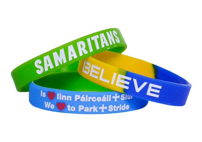 personalised silicone wristbands