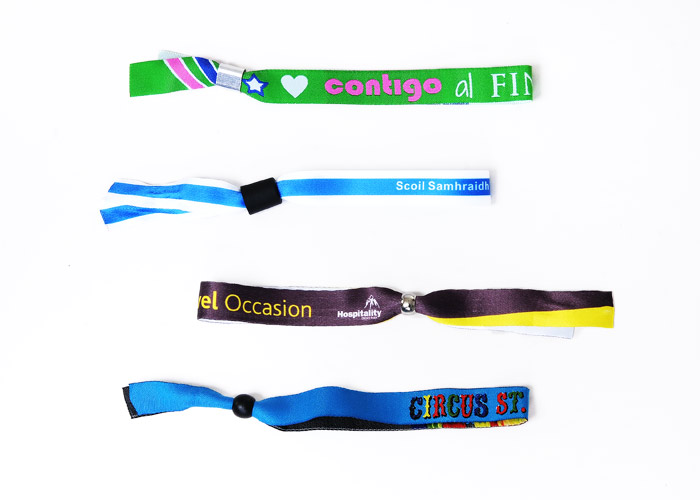 personalised fabric wristbands no minimum order