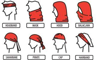 how to wear neck bandana