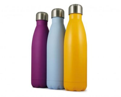 branded metal water bottle
